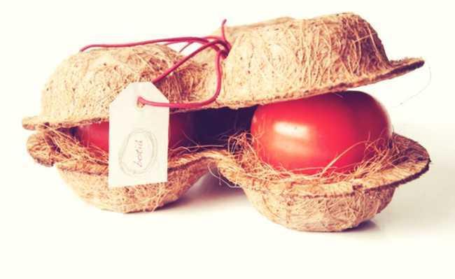 Embalagem sustentável de coco