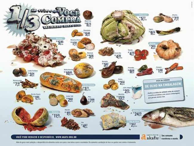 Campanha contra o desperdício de alimentos