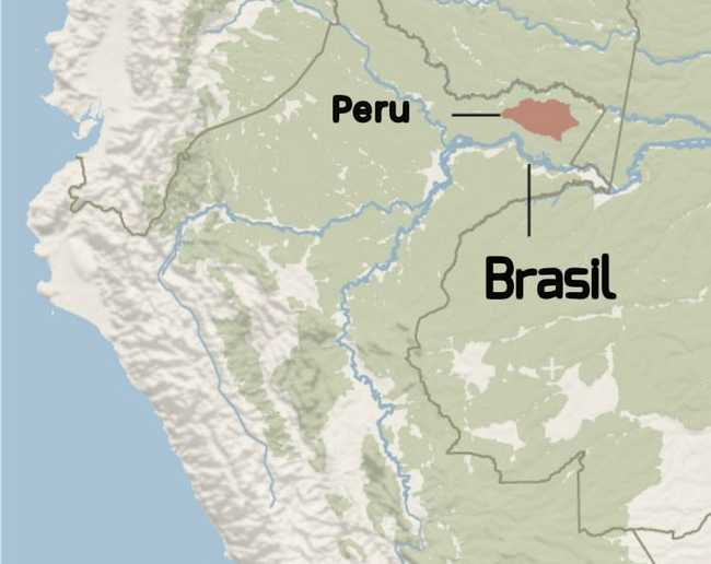 Mapa de Yaguas - Peru