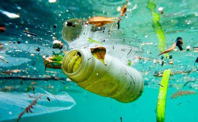 Plástico desnecessário termina no oceano