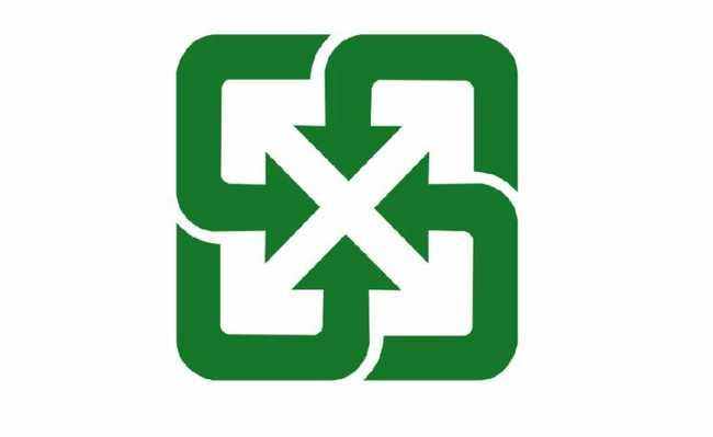 Símbolo da reciclagem irônico