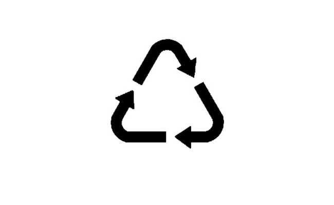 símbolo genérico da reciclagem
