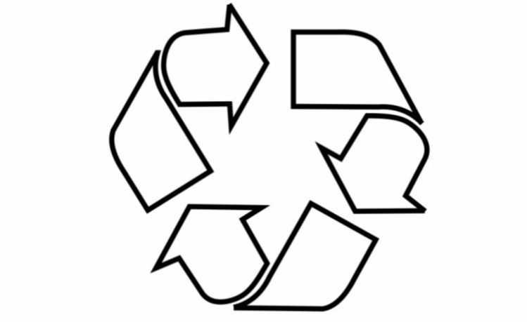 símbolo universal da reciclagem