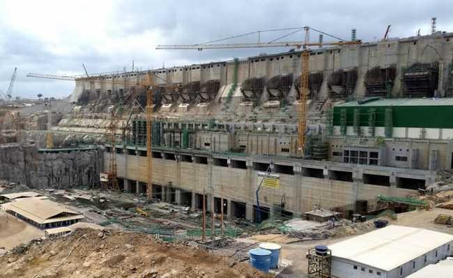Construção da usina de Belo Monte