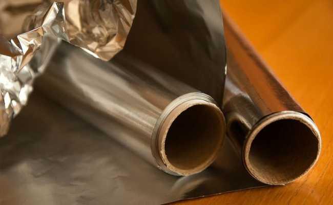 folha de aluminio