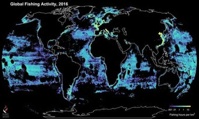 Mapa da pesca global