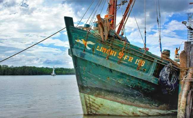 Pesca comercial nos mares
