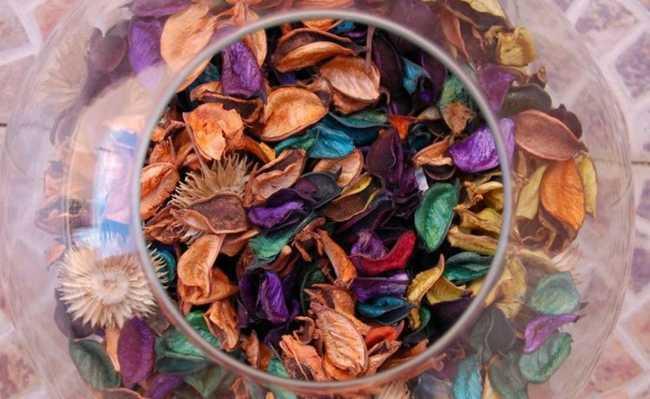Pot-pourri de flores secas - cuidado para não chamar de pout-pourri