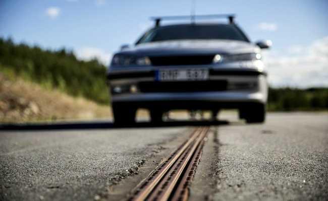Estrada elétrica na Suécia