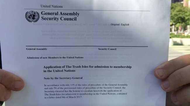 Petição na ONU para virar país