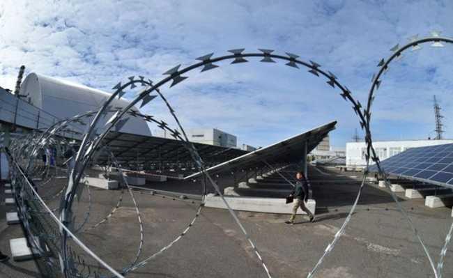 Planta solar em Chernobyl