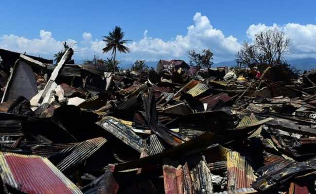 Indonésia após terremoto setembro 2018