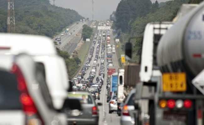Estrada congestionada