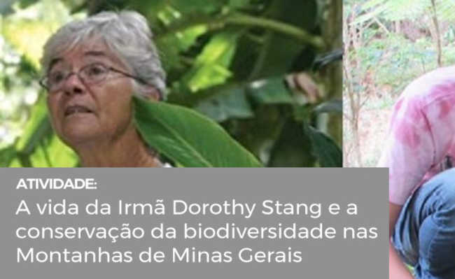 Palestra sobre conservação da biodiversidade na zona da mata mineira e vida da Irmã Dorothy Stang