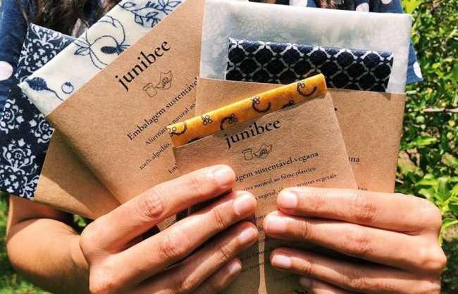 embalagem de cera vegetal junibee