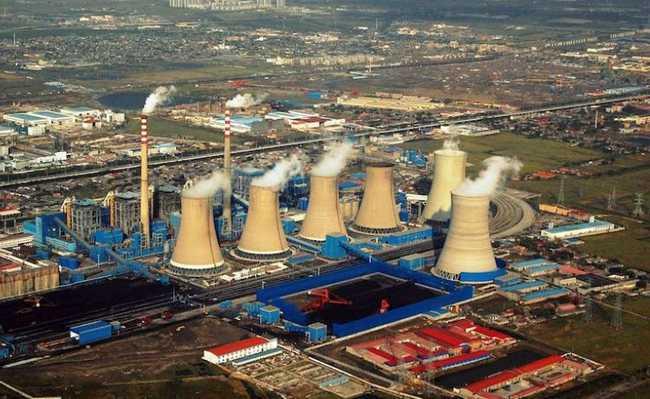 Usina de carvão na China