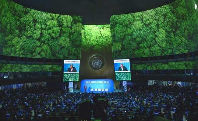 Abertura da Cúpula da ONU pelo clima