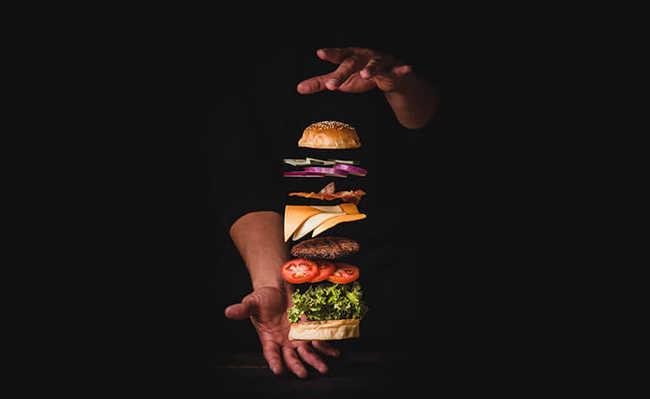 hambúrgueres industrializados