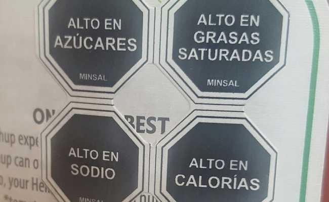 Etiquetas usadas no Chile