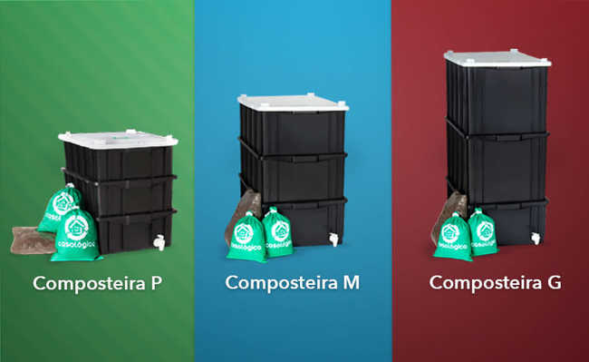 composteira grande composteira mini composteira pequena