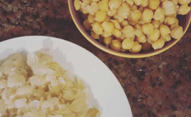 salgadinho de grão de bico