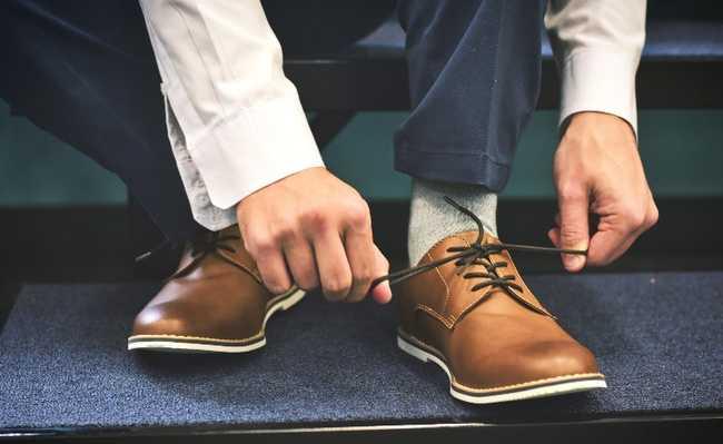 Tirar o sapato antes de entrar em casa
