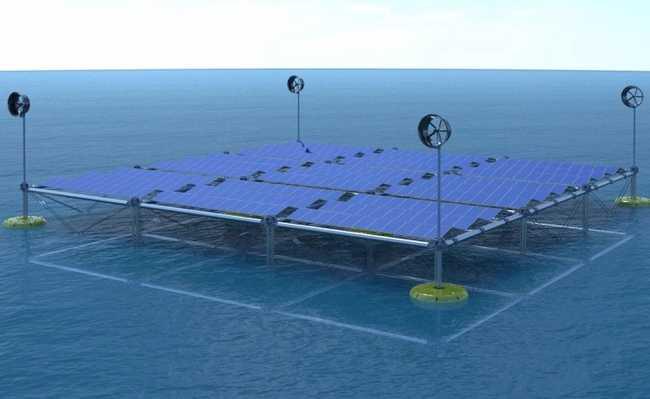 Plataforma oceânica capta energia
