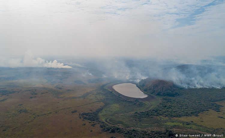 Queimada perto de Corumbá