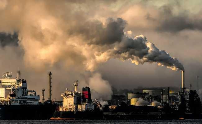 poluição do ar cegueira