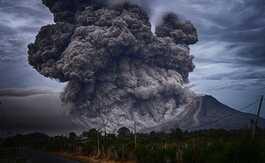 Poluição vulcânica