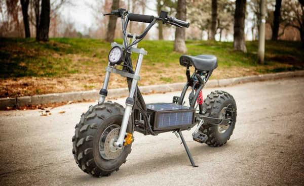The Beast: parece moto, mas é uma bicicleta elétrica solar e off road