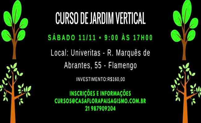 Curso no Rio de Janeiro ensina jardinagem vertical