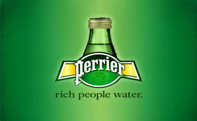"""""""Água de gente rica"""""""