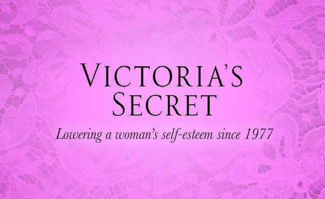 """""""Diminuindo a autoestima da mulher desde 1977"""""""