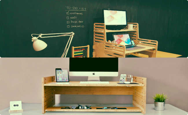 Mesas: UpStanding Desk e LIFT