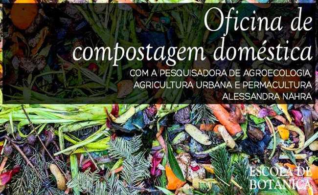 Oficina de compostagem doméstica