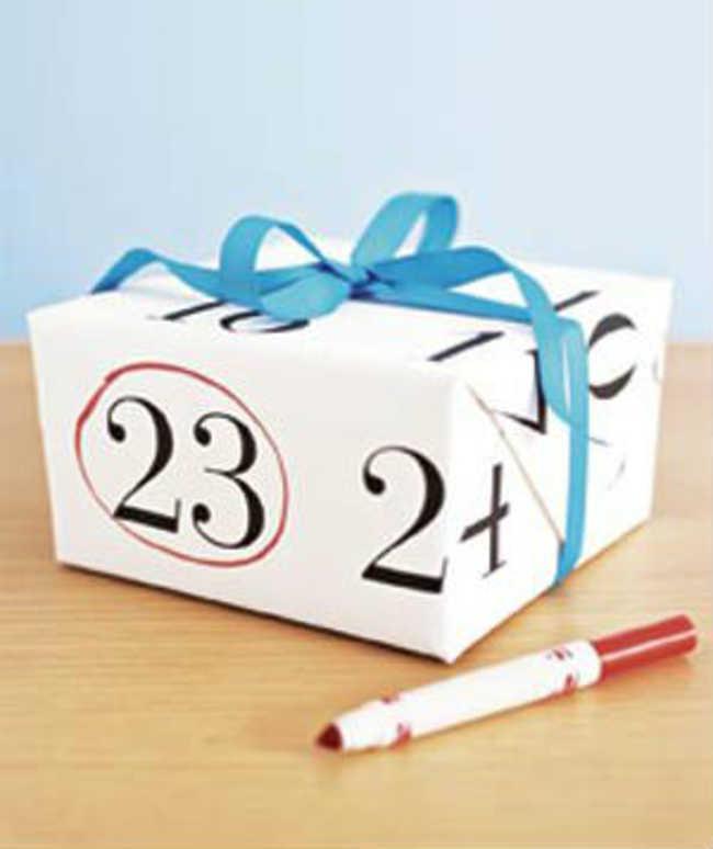 Caixa de presente calendario
