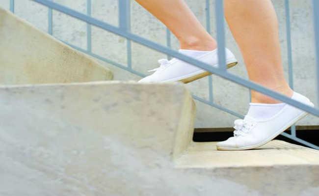 Subindo escada