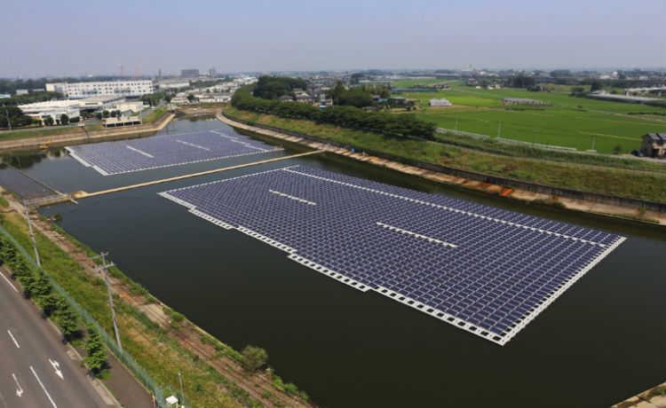 Usina solar flutuante do mundo