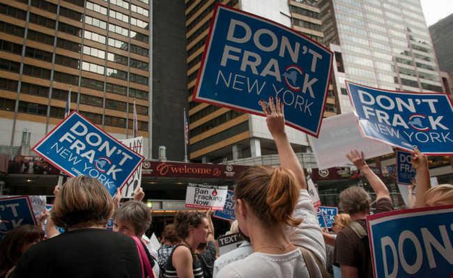 Protesto contra o fracking em Nova Iorque.