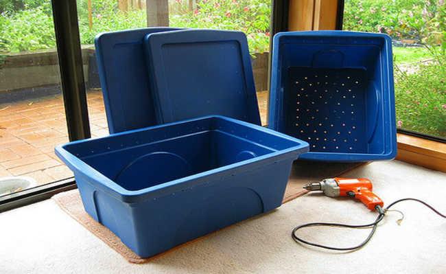Caixa para composteira