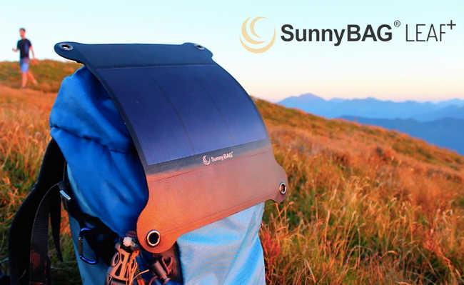 Painel solar acoplado a mochilas