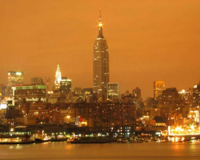 Exemplo de poluição luminosa