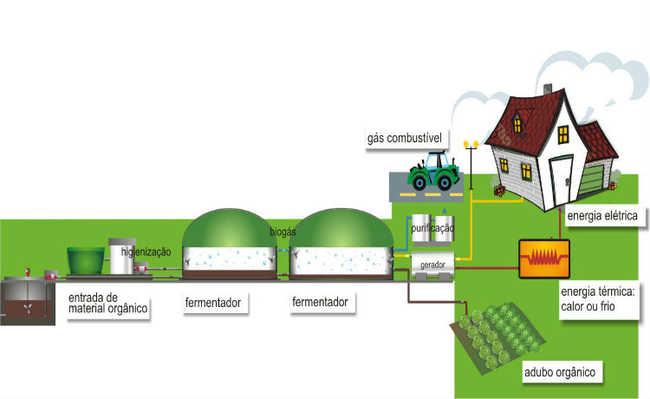 Finalidades que os produtos produzidos pelo biodigestor rural podem ter