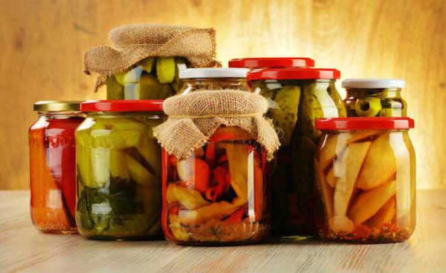 conservas probióticas e alimentos fermentados