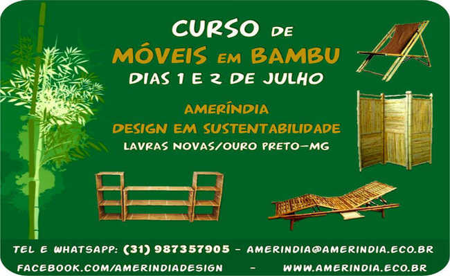 Curso ensina a fazer móveis em bambu