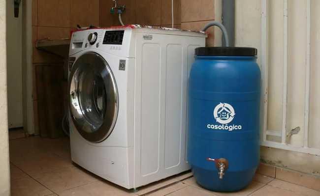 aproveitas agua da maquina de lavar