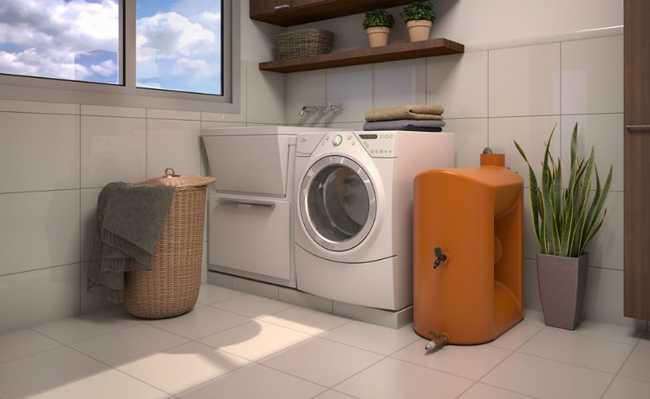 aproveitar agua da maquina de lavar