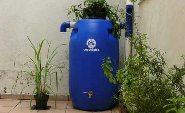 Mini cisterna: sistema de captação de chuva