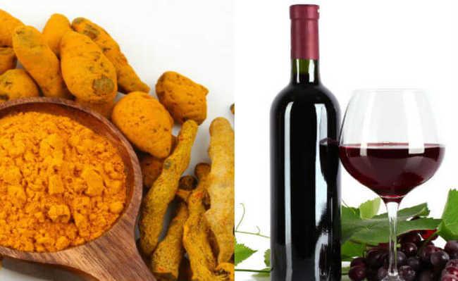 Açafrão e vinho